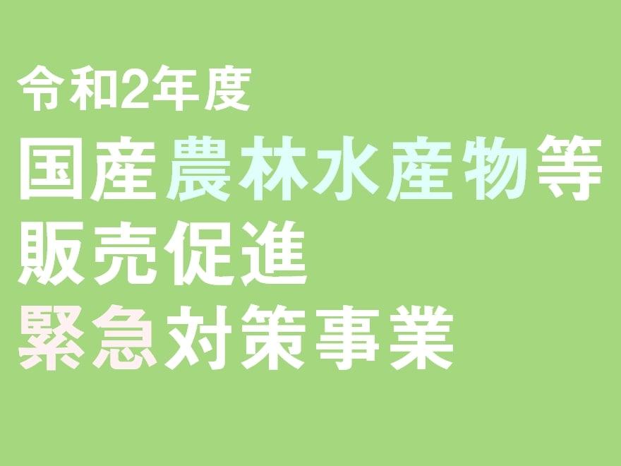 令和2年度国産農林水産物等販売促進緊急対策事業